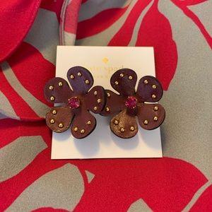 KATE SPADE NWT Blooming Bling Flower Earrings